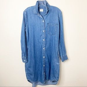 GAP Chambray Blue Button Down Dress XS